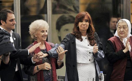 CFK en ex ESMA Carlotto Bonafini cabandié