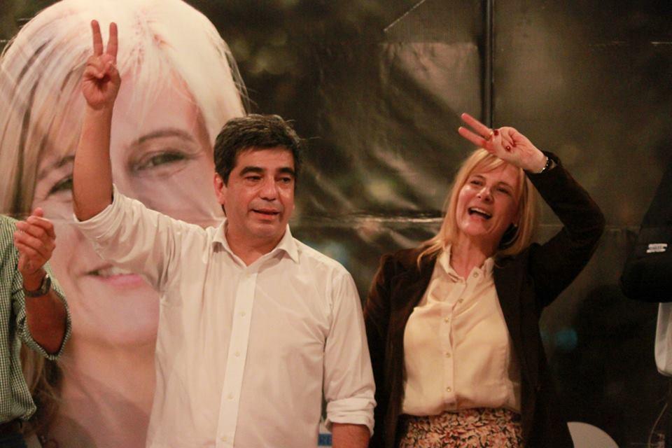 """Emilio """"Taka"""" López Muntaner y Florencia Saintout."""
