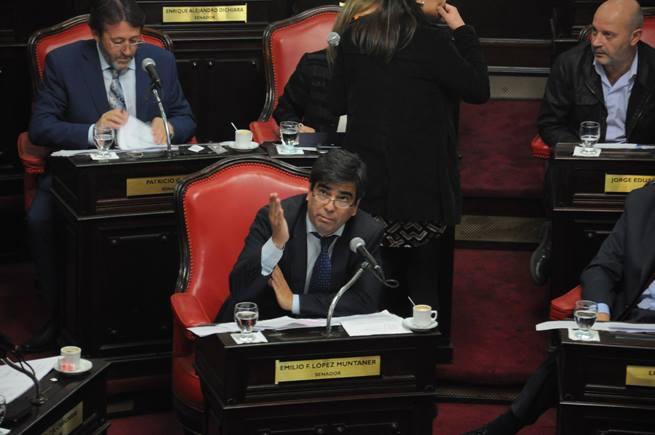"Senador Emilio ""Taka"" López Muntaner (FPV)."