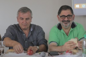 """Gerardo Morales y """"Chuli"""" Jorge."""