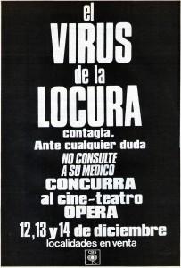 """Afiche de la presentación de """"Locura"""" en el Teatro Ópera"""