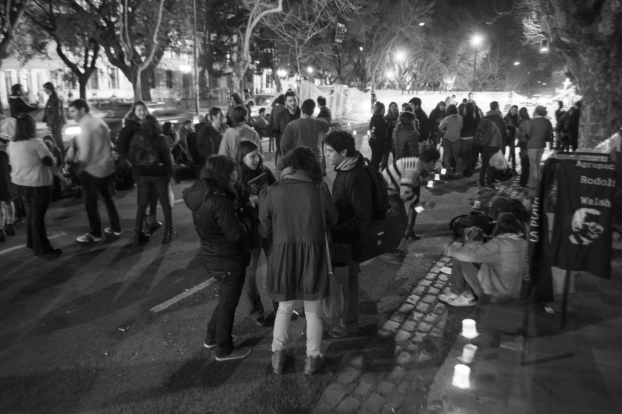 Vigilia por Rut Ávila Zambrana (Foto: Fabián Aguilar)