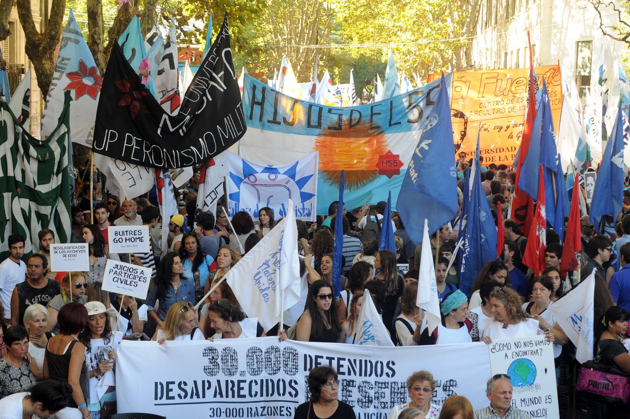 Marcha en La Plata
