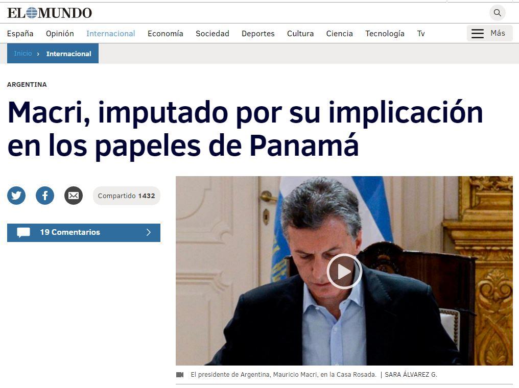 Diario El Mundo de España.